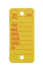 Yellow Poly Key Tags