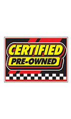 "Curb Display Sign - ""Certified Pre-Owned"""