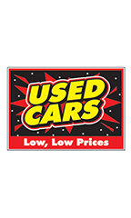 "Curb Display Sign - ""Used Cars Low  Prices"""