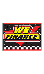 "Curb Display Sign - ""We Finance"""