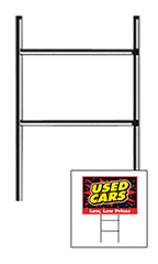 Curb Display Sign Holder