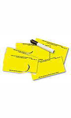 Yellow Blank Stock Number Decals