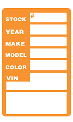 Orange Window Stock Stickers