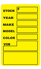 Yellow Window Stock Stickers