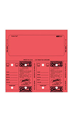 Red Stock Number Key Tag Set