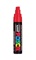 Red Water Based Paint Marker with 5/8 inch tip