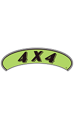 "Arch Windshield Slogan Sticker - Black/Neon Green - ""4 X 4"""