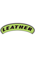 "Arch Windshield Slogan Sticker - Black/Neon Green - ""Leather"""