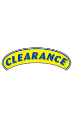 "Arch Windshield Slogan Sticker - Blue/Yellow - ""Clearance"""