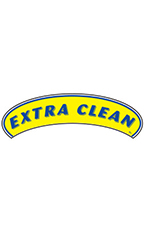 "Arch Windshield Slogan Sticker - Blue/Yellow - ""Extra Clean"""