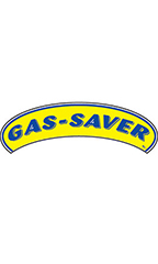 "Arch Windshield Slogan Sticker - Blue/Yellow - ""Gas Saver"""
