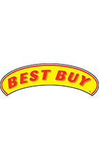 "Arch Windshield Slogan Sticker - Red/Yellow - ""Best Buy"""