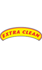 "Arch Windshield Slogan Sticker - Red/Yellow - ""Extra Clean"""