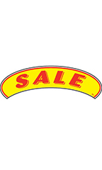 "Arch Windshield Slogan Sticker - Red/Yellow - ""Sale"""