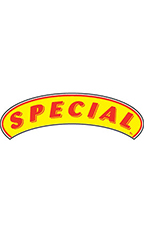 "Arch Windshield Slogan Sticker - Red/Yellow - ""Special"""