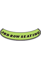 "Smile Windshield Slogan Sticker - Black/Neon Green - ""3rd Row Seating"""