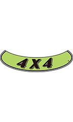 "Smile Windshield Slogan Sticker - Black/Neon Green - ""4 X 4"""