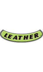 "Smile Windshield Slogan Sticker - Black/Neon Green - ""Leather"""