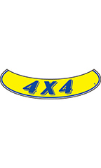 "Smile Windshield Slogan Sticker - Blue/Yellow - ""4 X 4"""