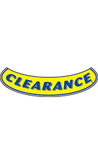 "Smile Windshield Slogan Sticker - Blue/Yellow - ""Clearance"""