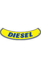 "Smile Windshield Slogan Sticker - Blue/Yellow - ""Diesel"""