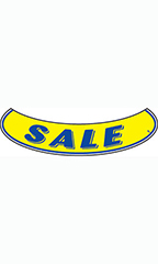 "Smile Windshield Slogan Sticker - Blue/Yellow - ""Sale"""