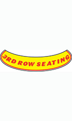 "Smile Windshield Slogan Sticker - Red/Yellow - ""3rd Row Seating"""