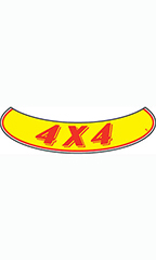 "Smile Windshield Slogan Sticker - Red/Yellow - ""4 X 4"""