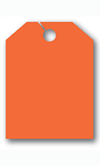 Mirror Hang Tags - Fluorescent Red - Blank without Border