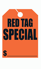 "Mirror Hang Tags - Red - ""Red Tag Special"""