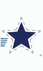 Blue/White Star Impulse Stickers