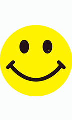 Yellow Happy Face Impulse Stickers