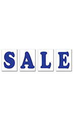 "Jumbo Under The Hood Sign Kit - ""Sale"" - Blue"