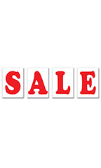 "Jumbo Under The Hood Sign Kit - ""Sale"" - Red"
