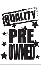 "Jumbo Under The Hood Sign - ""Quality Pre Owned"""