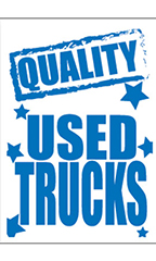 "Jumbo Under The Hood Sign - ""Quality Used Trucks"""