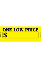 Yellow One Low Price Impulse Stickers