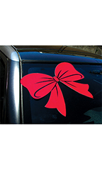 Red Bow Window Decal