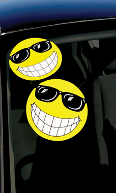 Yellow Smiling Face with Sunglasses