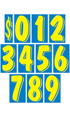 11 ½ inch Blue/Yellow Windshield Number Kit