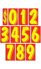 11 ½ inch Red/Yellow Windshield Number Kit
