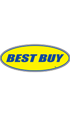"Oval Windshield Slogan Sticker - Blue/Yellow - ""Best Buy"""