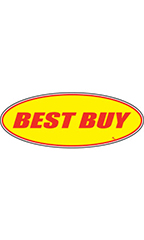 "Oval Windshield Slogan Sticker - Red/Yellow - ""Best Buy"""