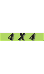 "Rectangular Slogan Windshield Sticker - Green - ""4 X 4"""