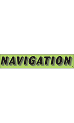 "Rectangular Slogan Windshield Sticker - Green - ""Navigation"""