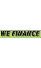 "Rectangular Slogan Windshield Sticker - Green - ""We Finance"""