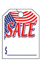 "Special Event Mirror Hang Tags - ""Patriotic Sale"" 1"