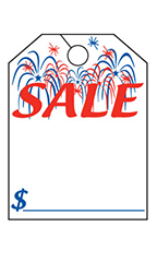 "Special Event Mirror Hang Tags - ""Patriotic Sale"" 2"