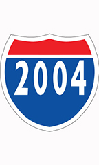 "Interstate Sign Windshield Stickers - ""2004"""