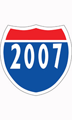 "Interstate Sign Windshield Stickers- ""2007"""